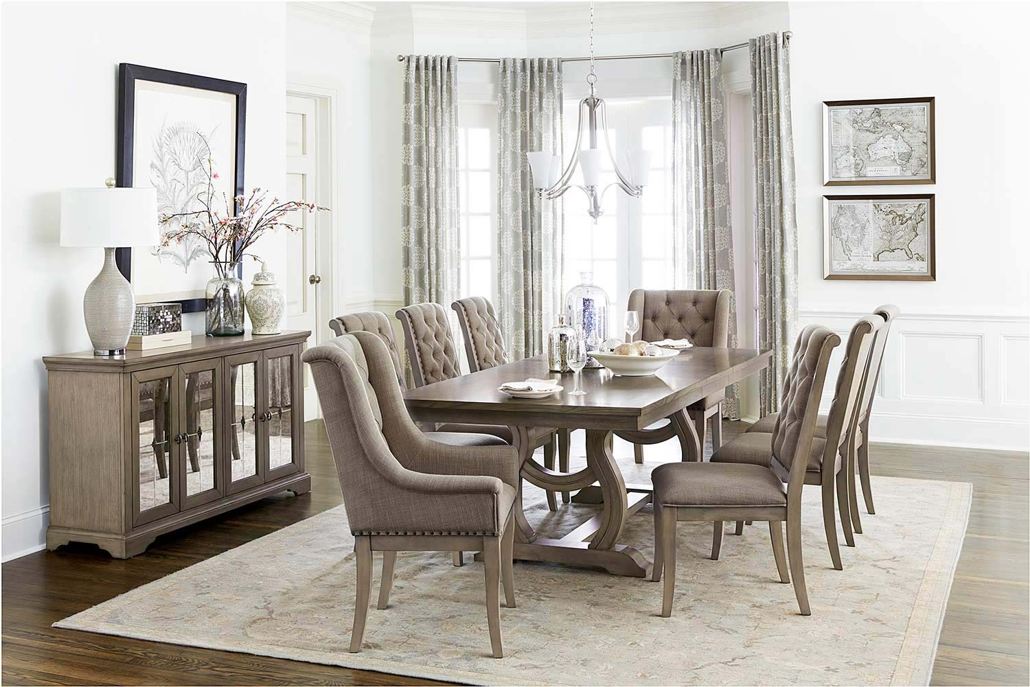 Homelegance Vermillion Dining Set - Bisque