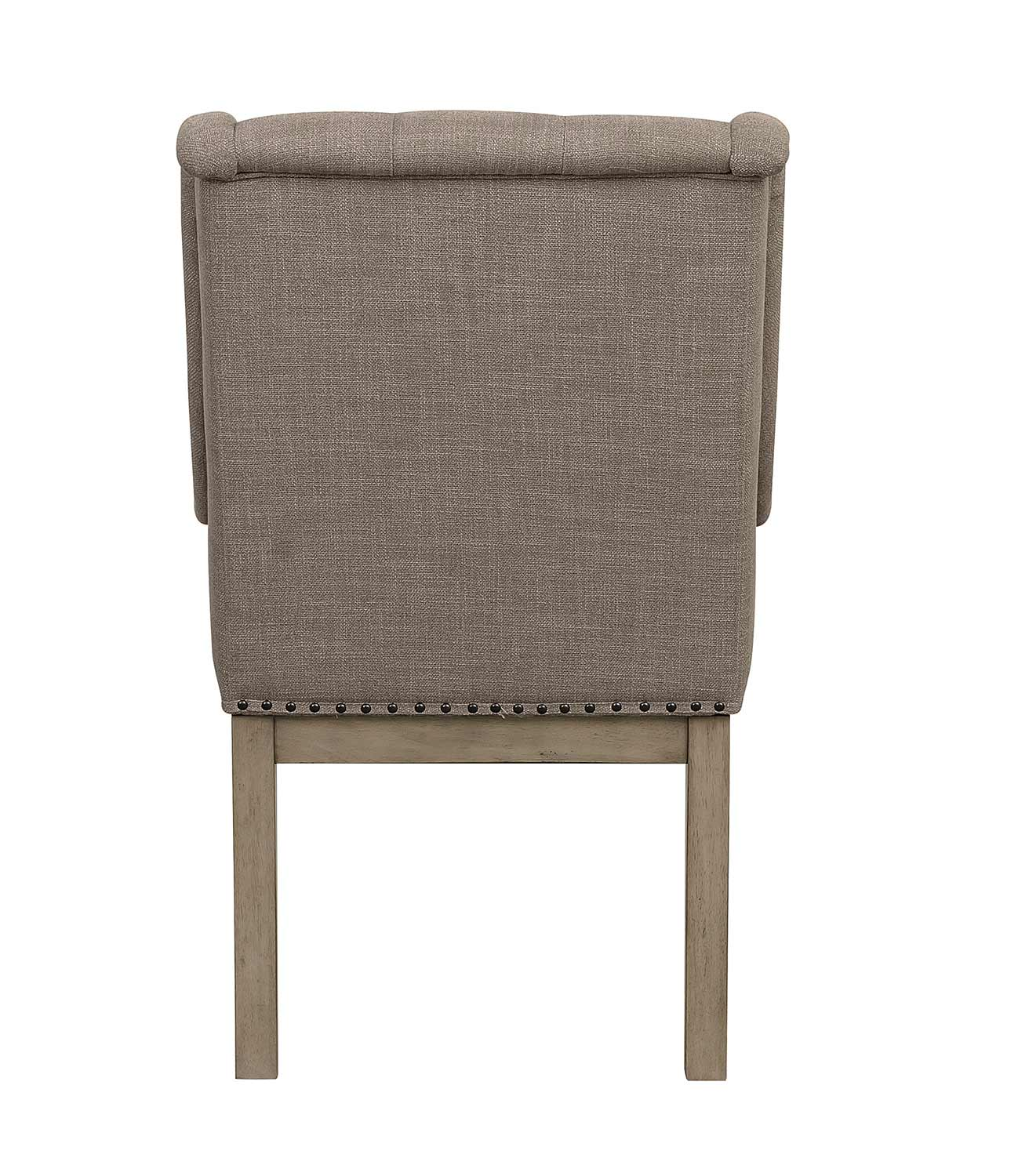 Homelegance Vermillion Arm Chair - Bisque