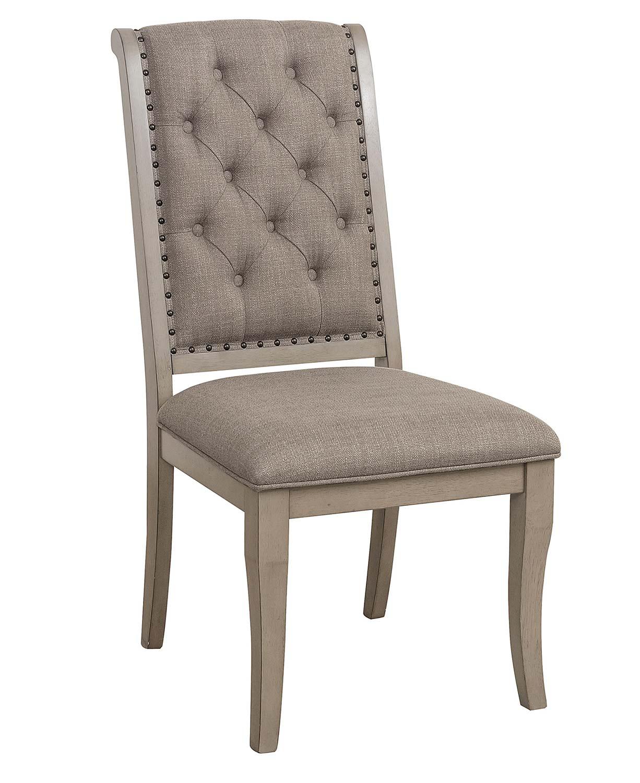 Homelegance Vermillion Side Chair - Bisque