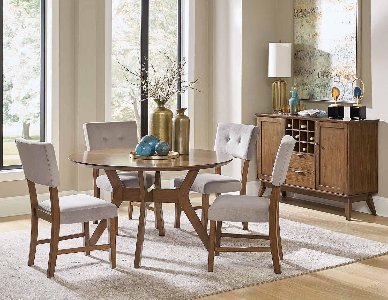 Homelegance Coel Round Dining Set - Natural