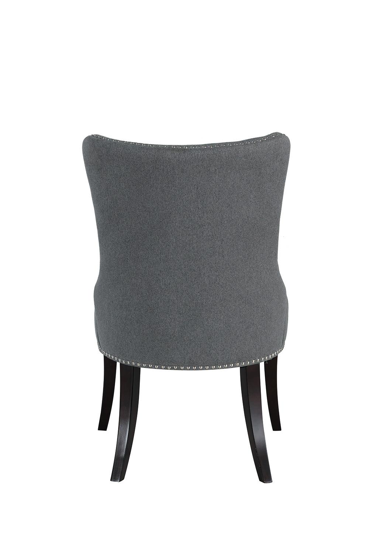 Homelegance Salema Side Chair - Gray - Dark Brown