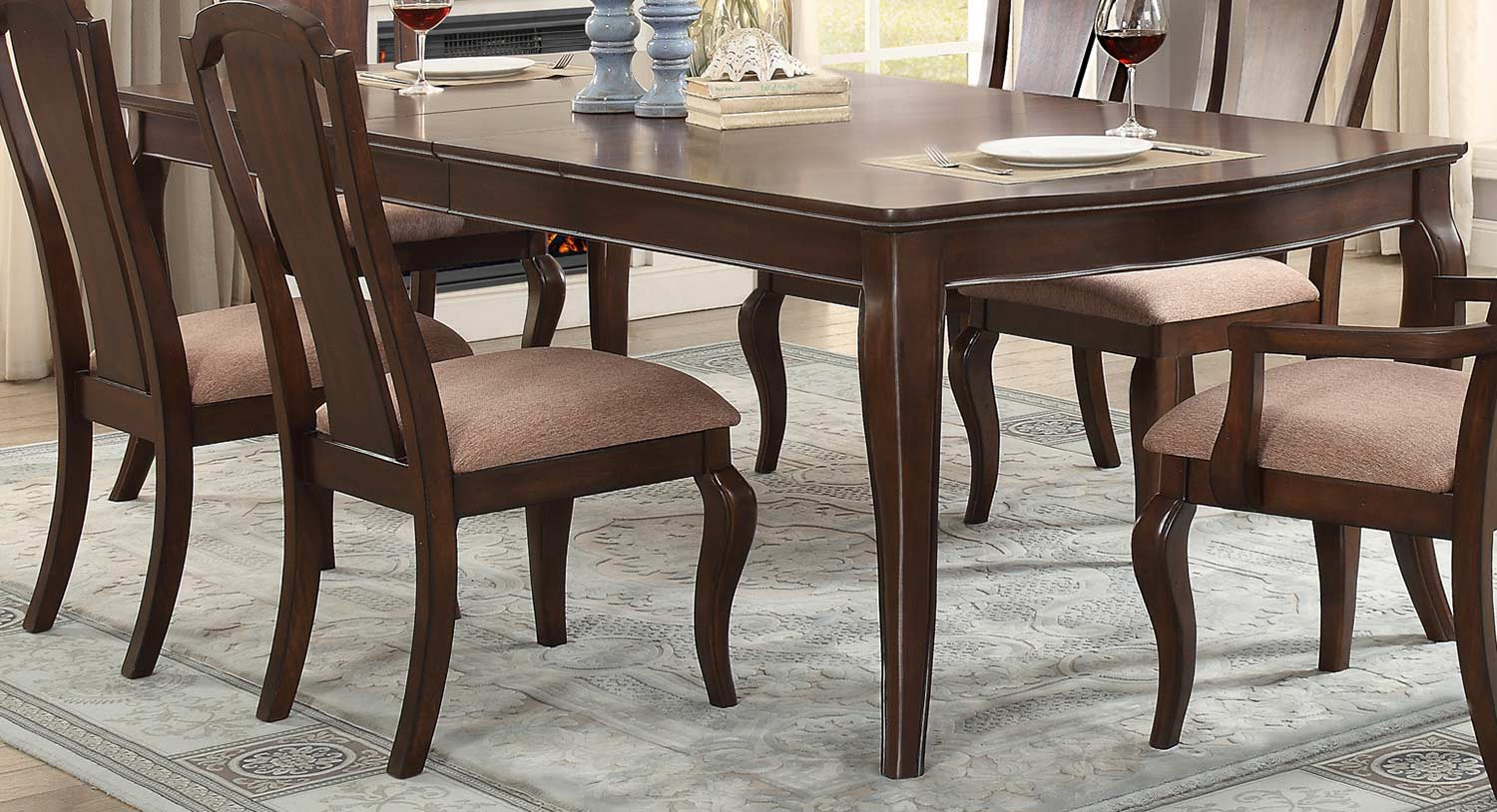 Homelegance Coleraine Dining Table - Cherry