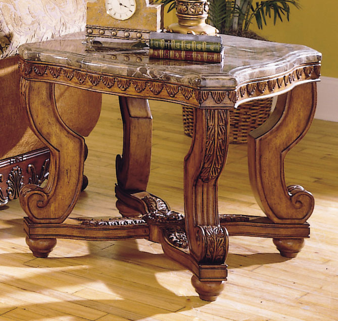 Homelegance Tarantula End Table Marble Top