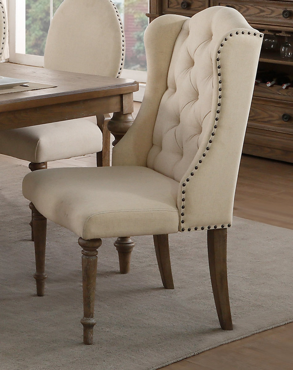 Homelegance Avignon Arm Chair - Natural Taupe