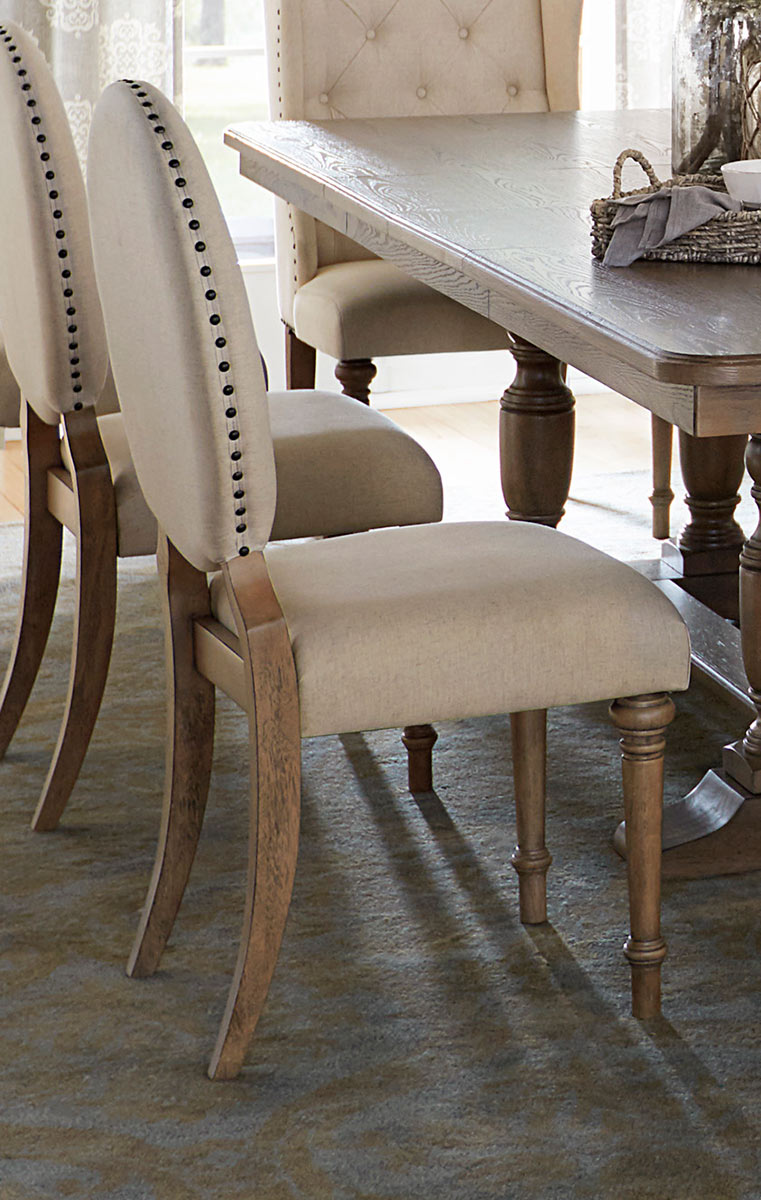Homelegance Avignon Side Chair - Natural Taupe