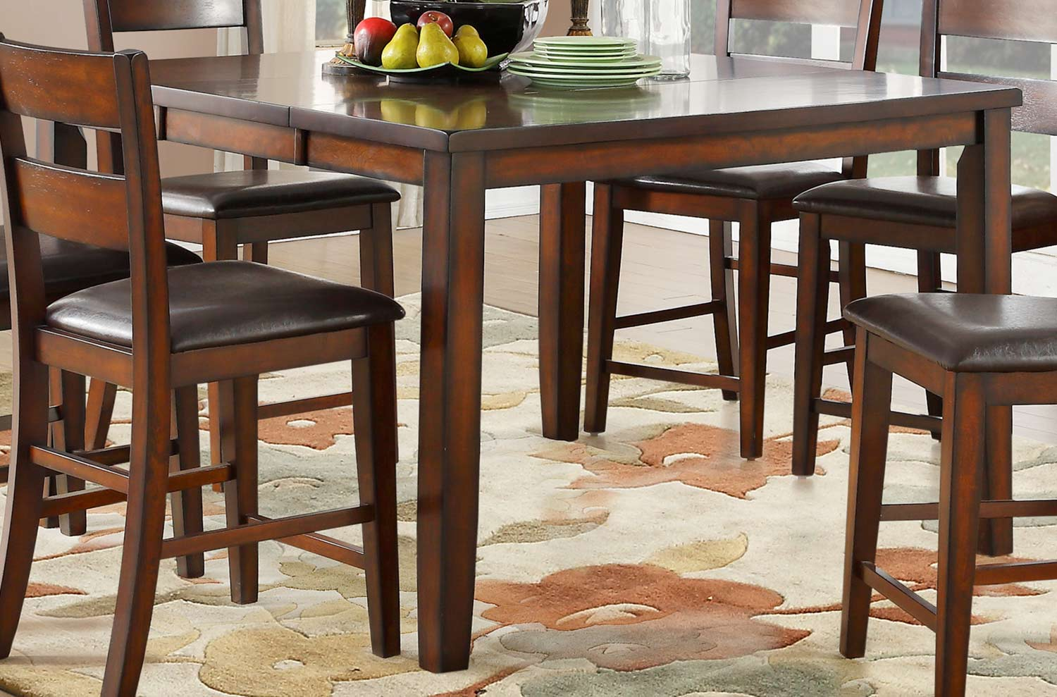 Homelegance Mantello Counter Height Dining Table - Cherry