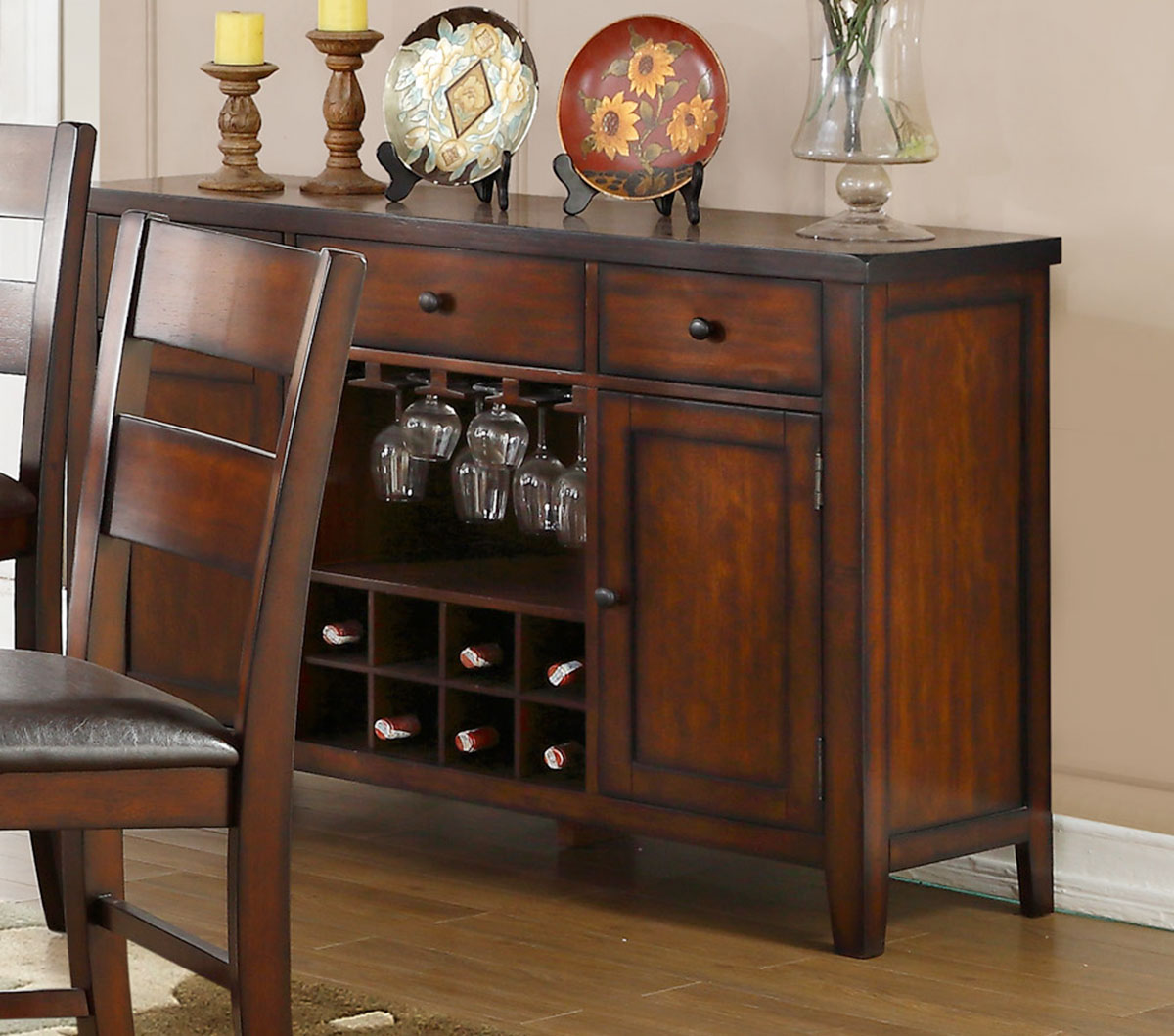 Homelegance Mantello Server - Cherry