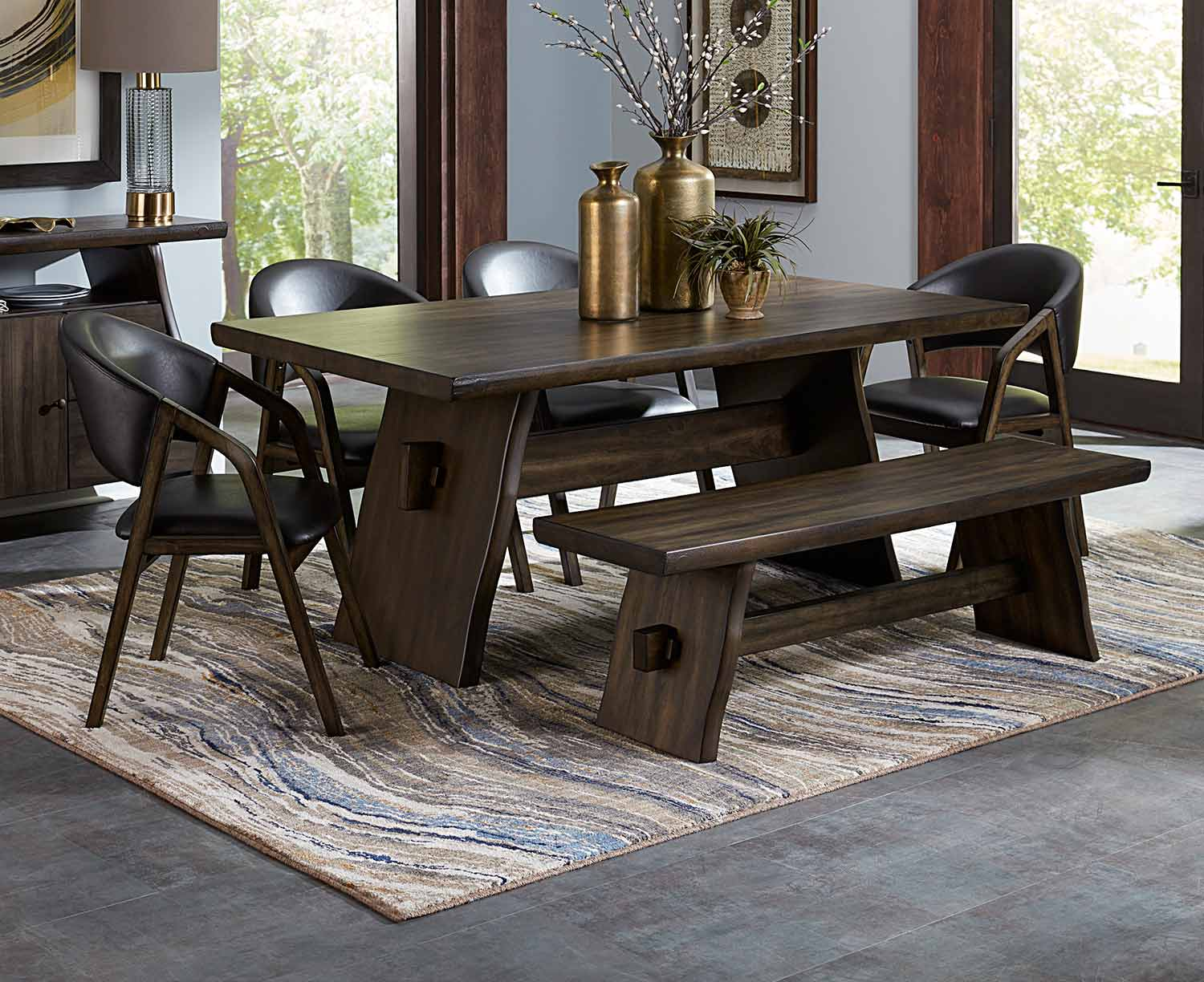 Homelegance Cabezon Dining Set - Rustic Brown