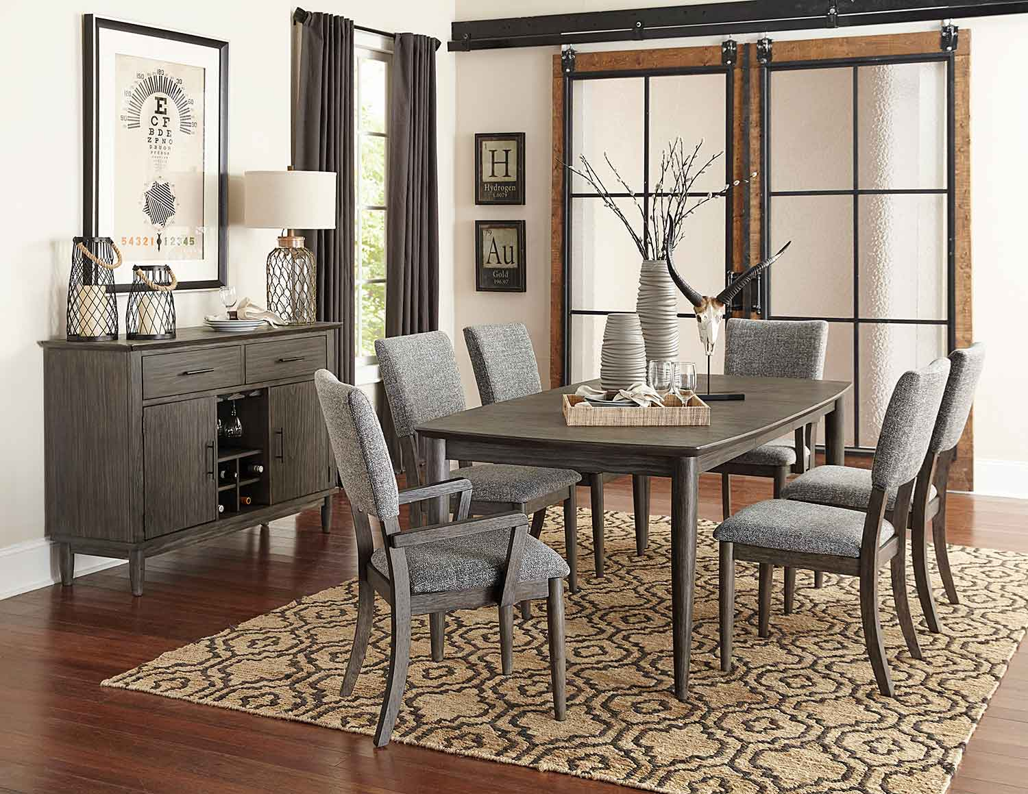 Homelegance Roux Dining Set Rustic Or Grey 5568 Dining