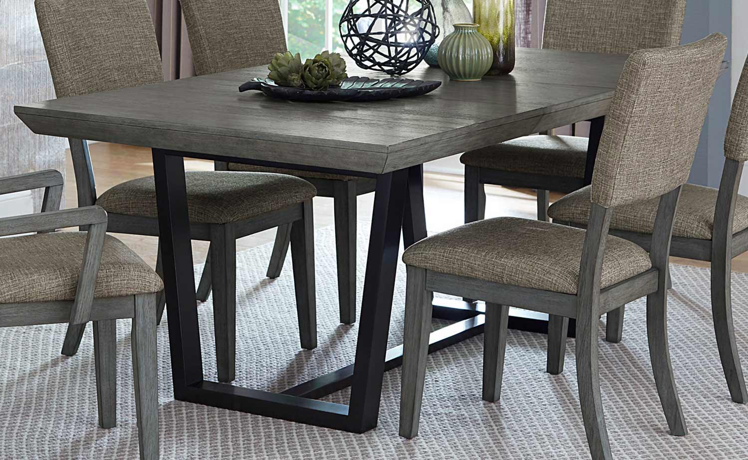 Homelegance Avenhorn Dining Table - Gray - Black Metal