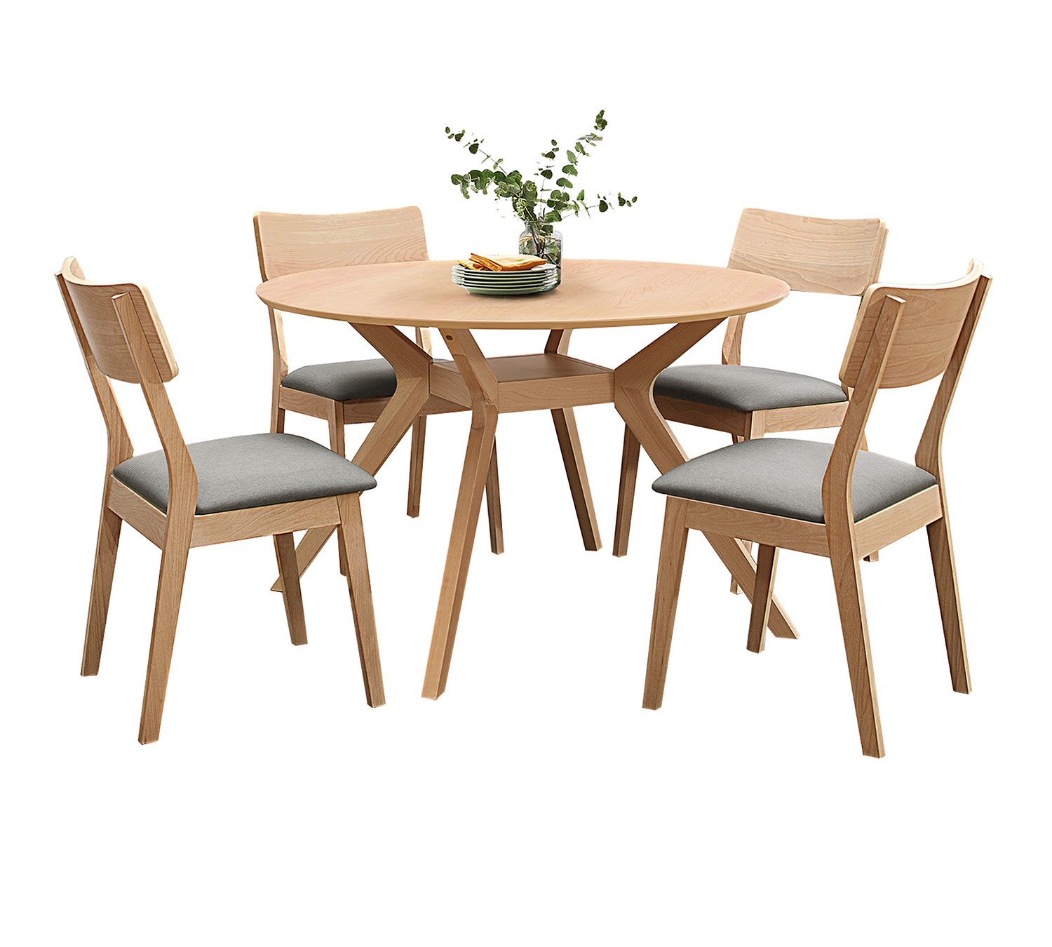 Homelegance Hamar Round Dining Set - Natural