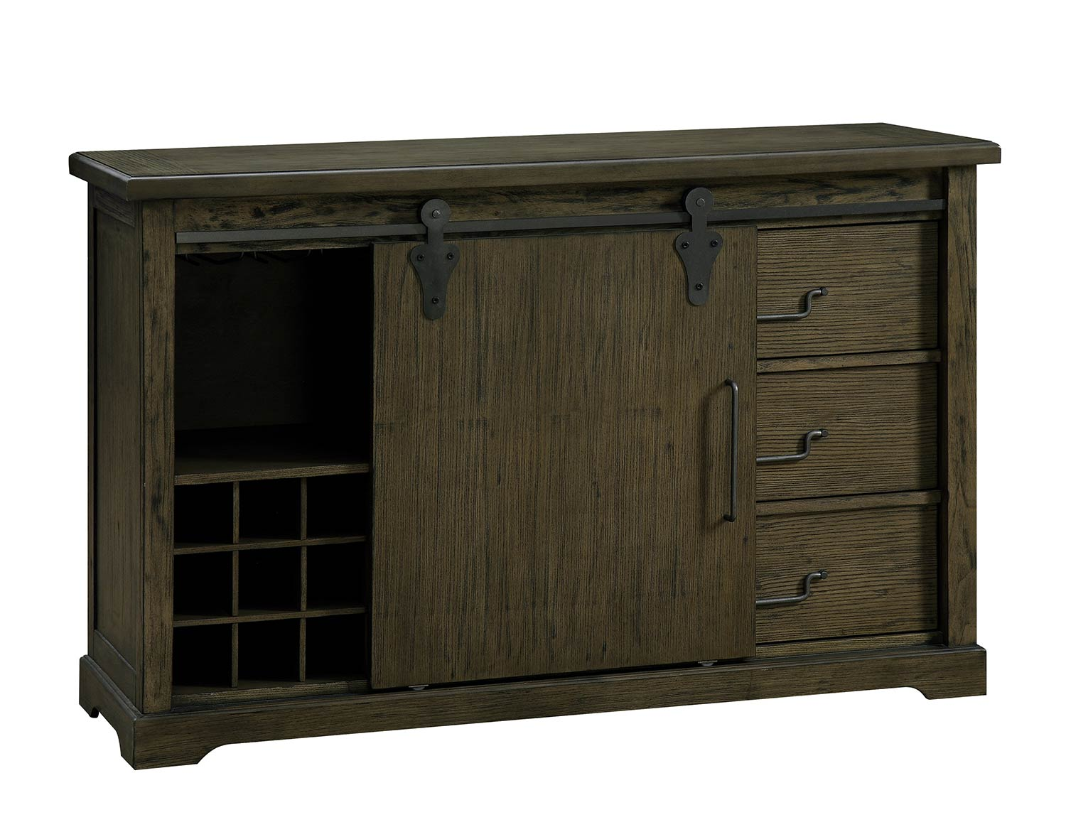 Homelegance Wheaten Barndoor Server - Natural