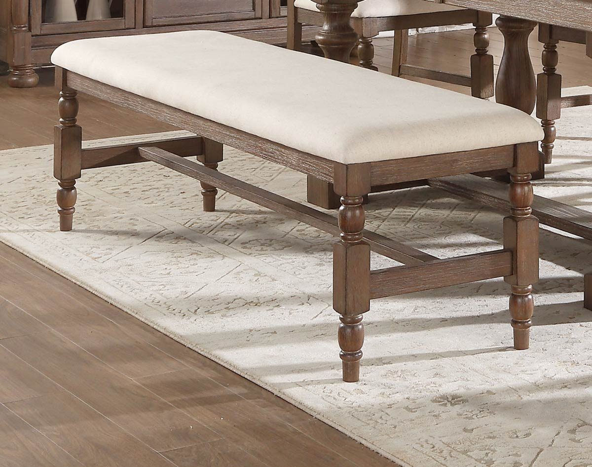 Homelegance Chartreaux Bench - Natural Taupe