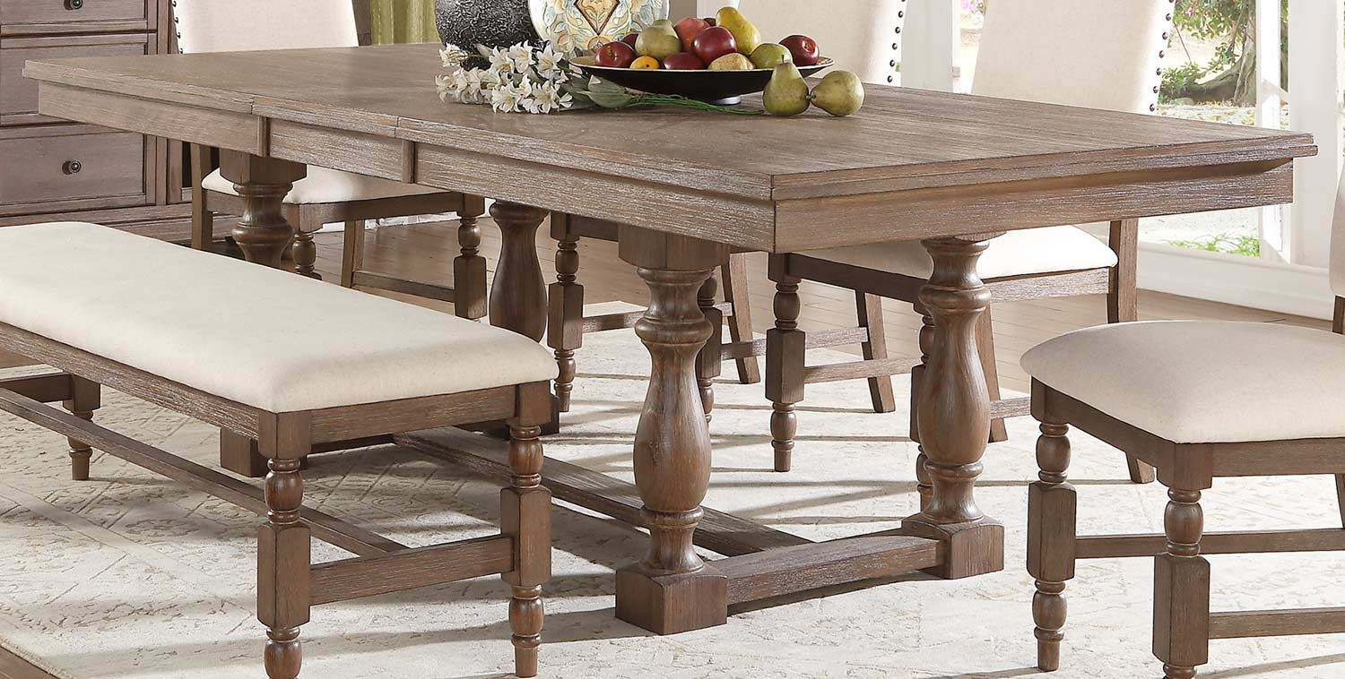 Homelegance Chartreaux Dining Table - Natural Taupe - Oak veneer