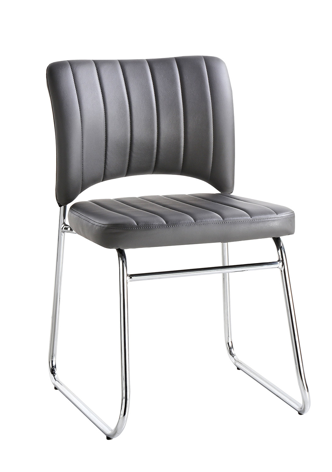 Homelegance Chromis Side Chair - Grey - Grey Bi-Cast Vinyl