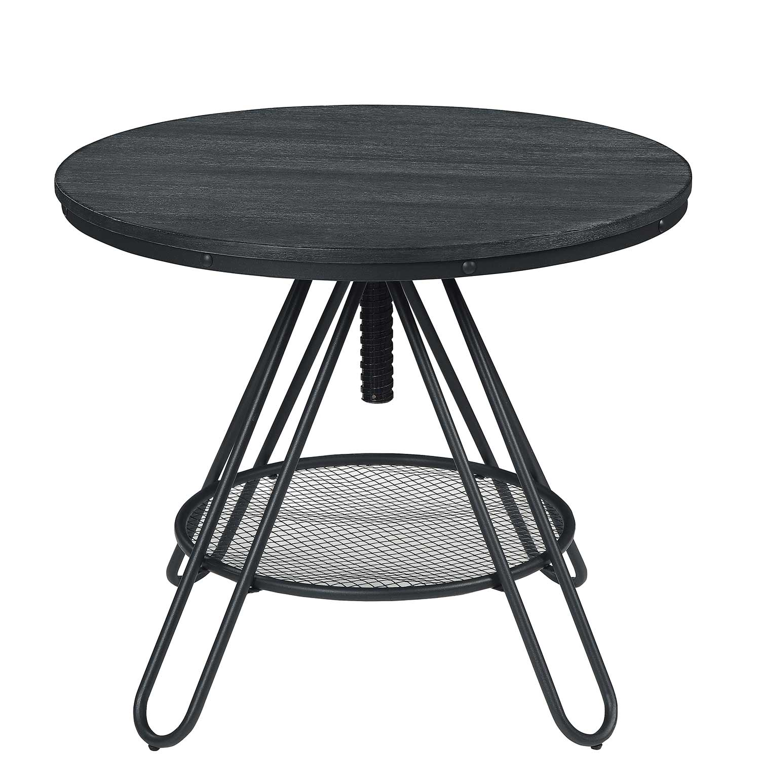 Homelegance Cirrus Adjustable Round Dining Table - Weathered Gray