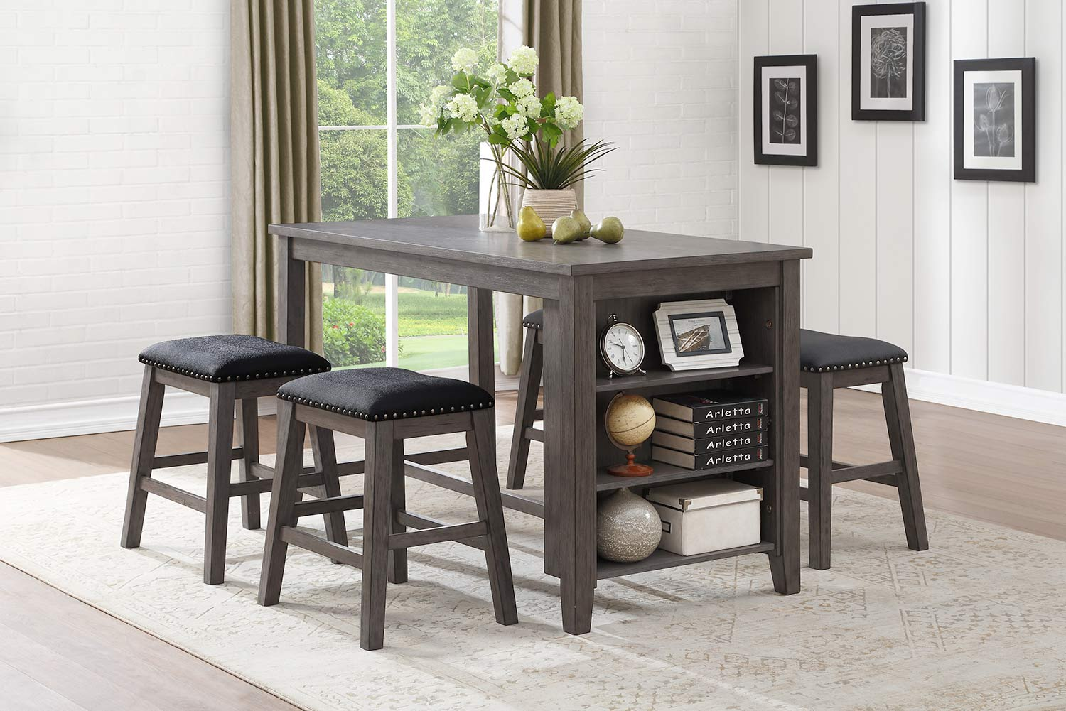 Homelegance Timbre Dining Set - Gray