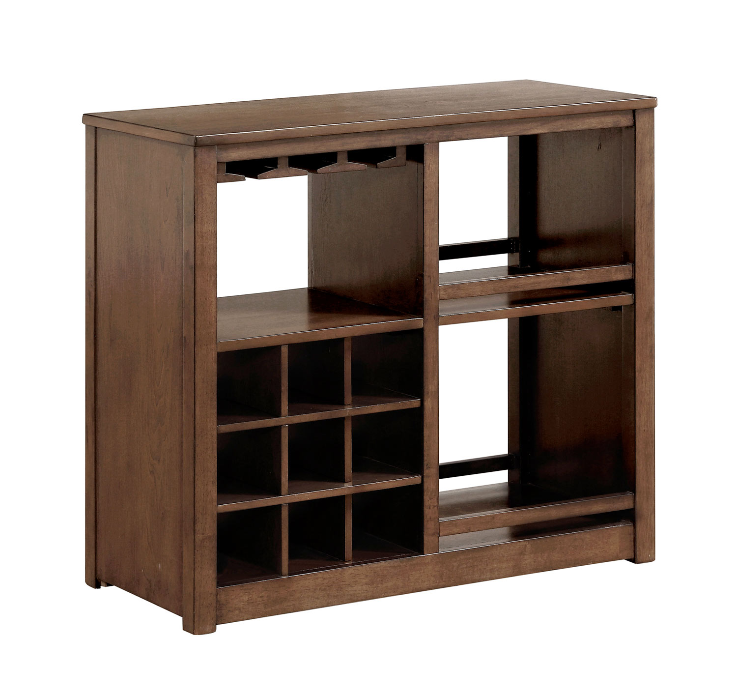 Homelegance Brindle Server with Casters - Brown