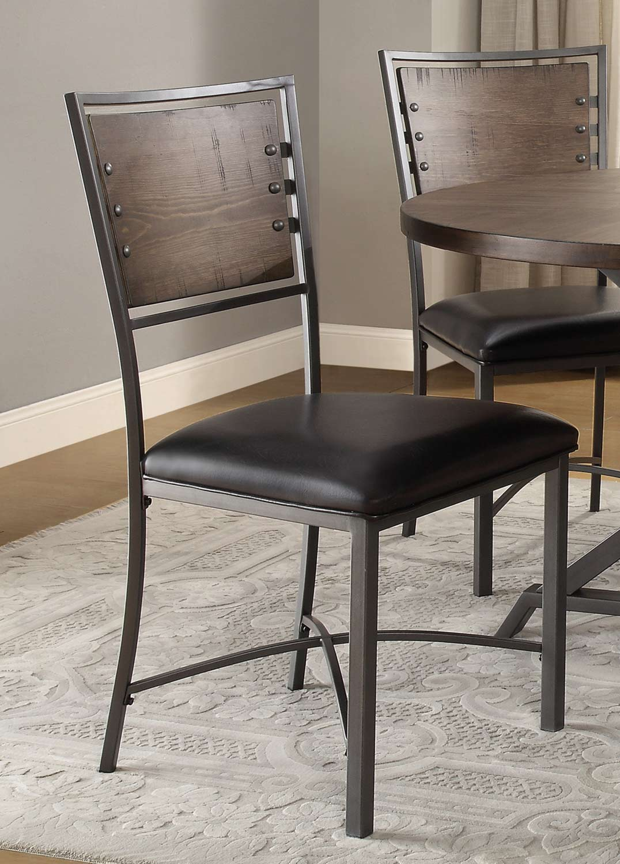 Homelegance Fideo Side Chair - Rustic - Gray Metal
