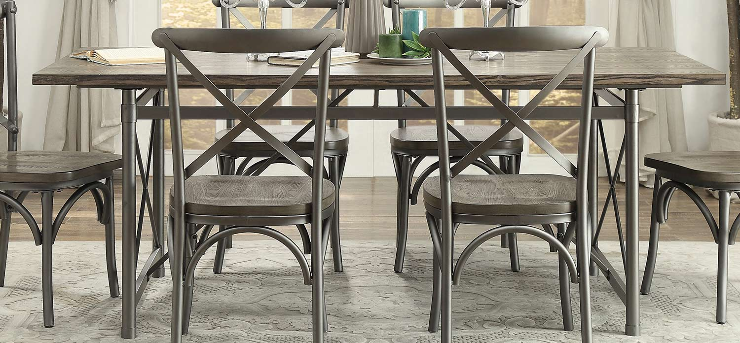 Homelegance Springer Dining Table - Weathered Gray