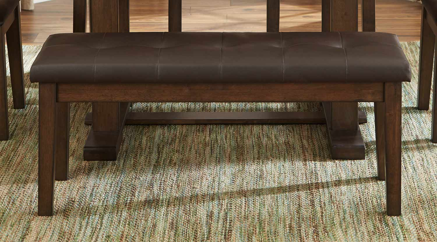 Homelegance Wieland Bench - Light Rustic Brown