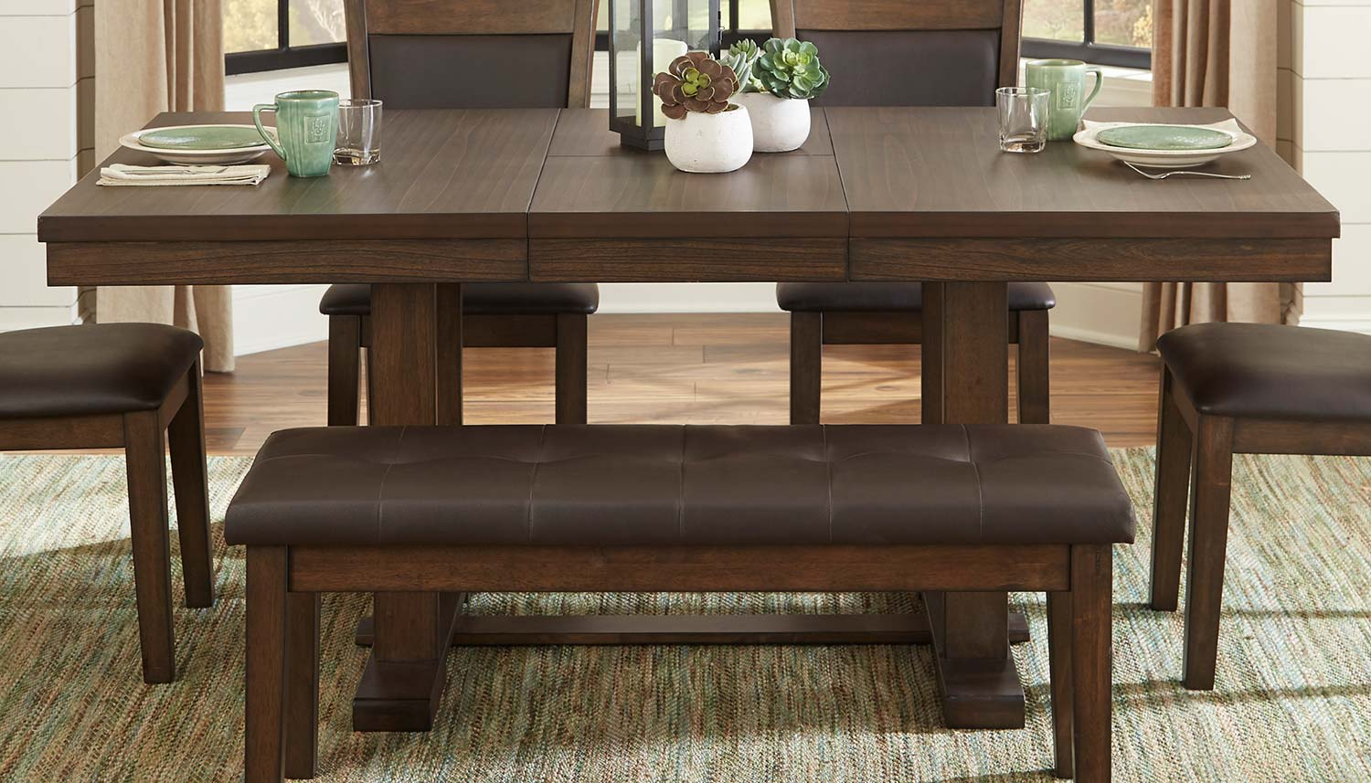 Homelegance Wieland Dining Table - Light Rustic Brown