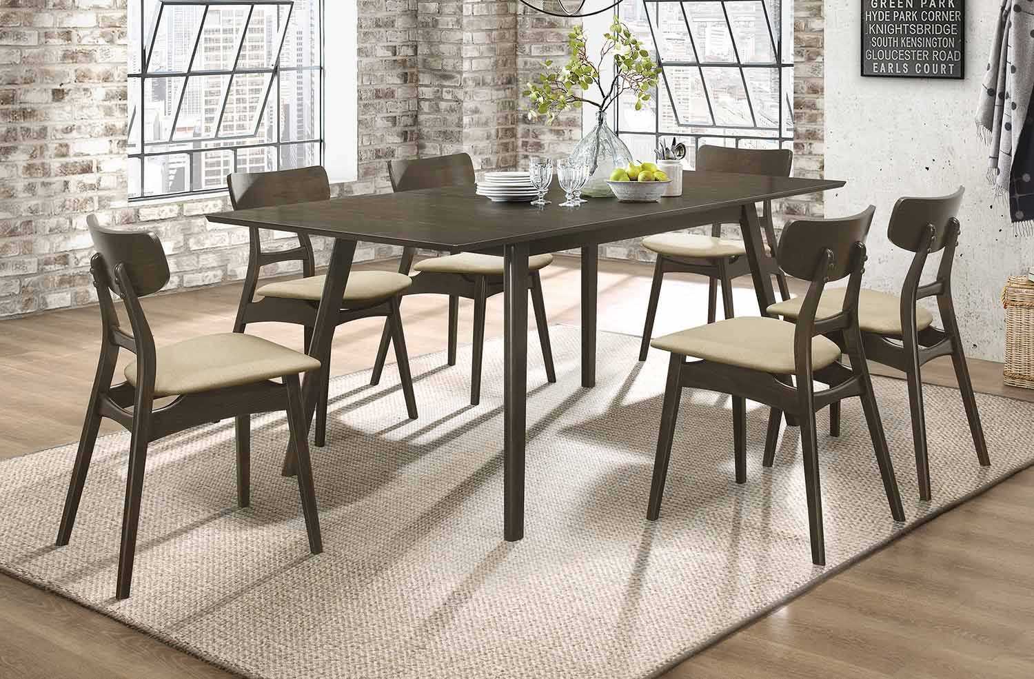Homelegance Tannar Dining Set - Brown