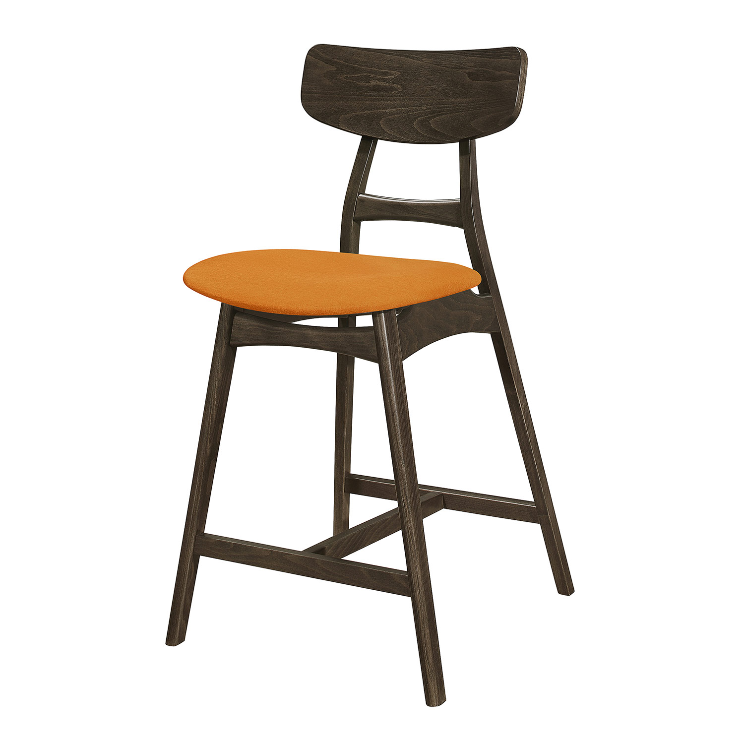 Homelegance Tannar Counter Height Chair - Orange