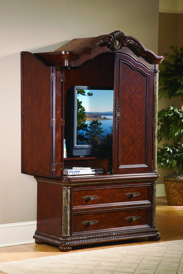 Homelegance Catalina Armoire Marble Pilaster
