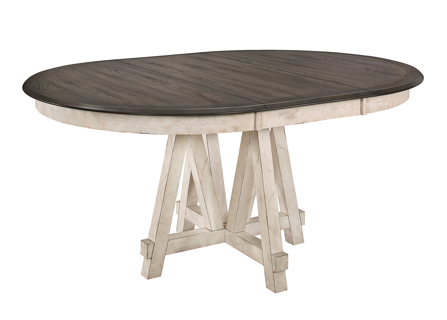 Homelegance Clover Round/Oval Dining Table - Rustic Gray