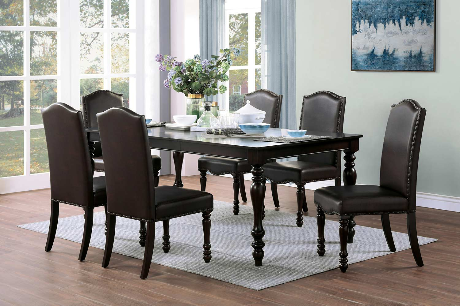 Homelegance Hargreave Dining Set - Cherry