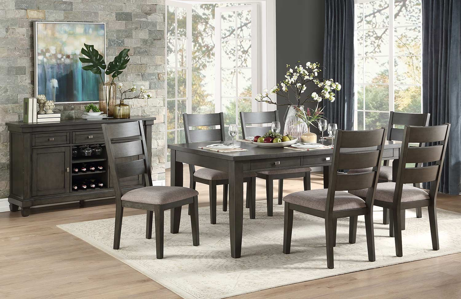 Homelegance Baresford Dining Set - Gray