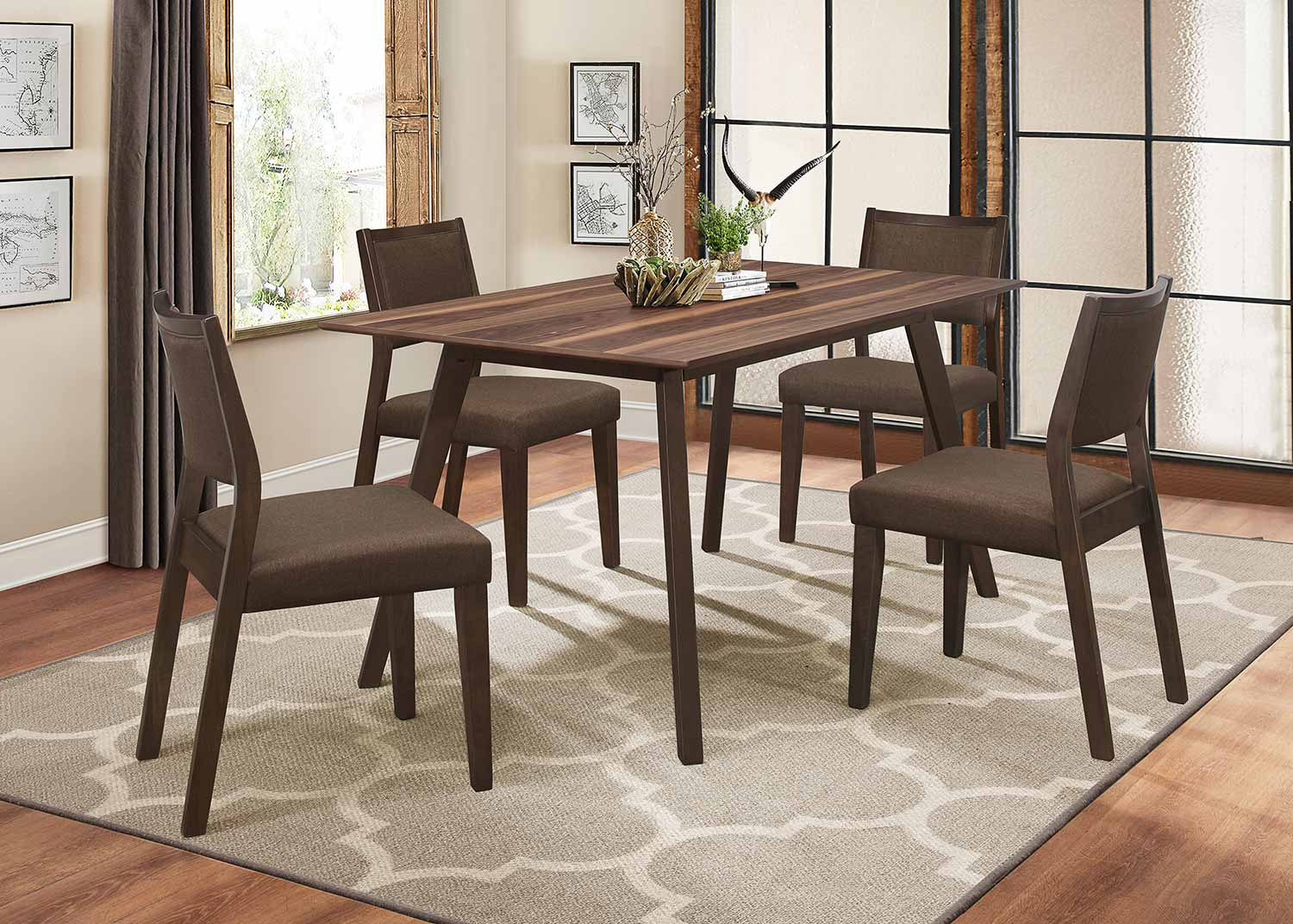 Homelegance Steer Dining Set - Walnut 2-Tone