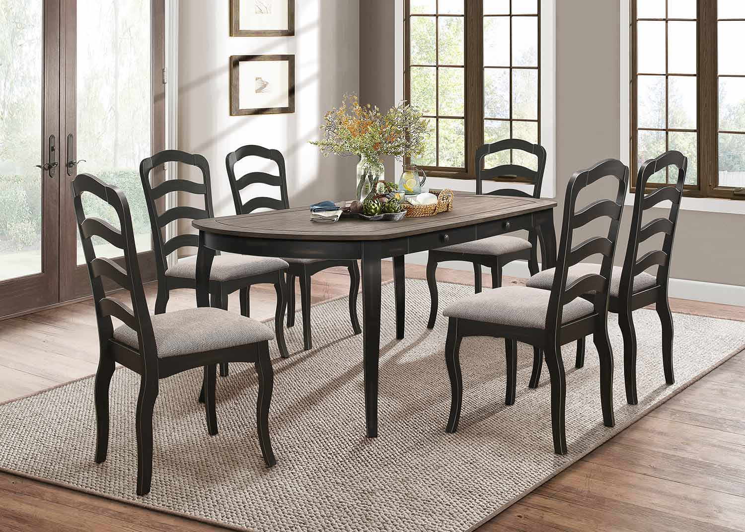 Homelegance Coring Dining Set - Antique 2-Tone