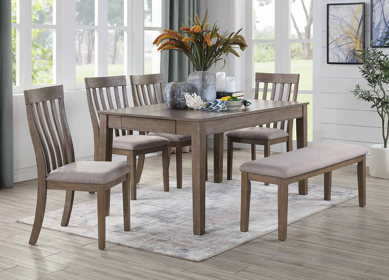 Homelegance Armhurst Dining Set - Brown