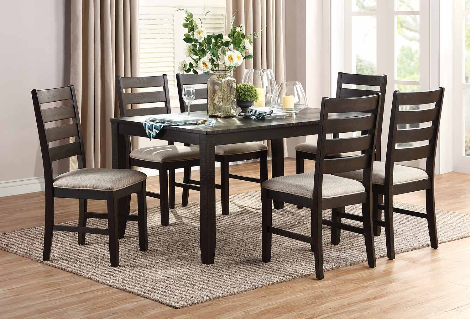 Homelegance Blair 7-Piece Pack Dinette Set