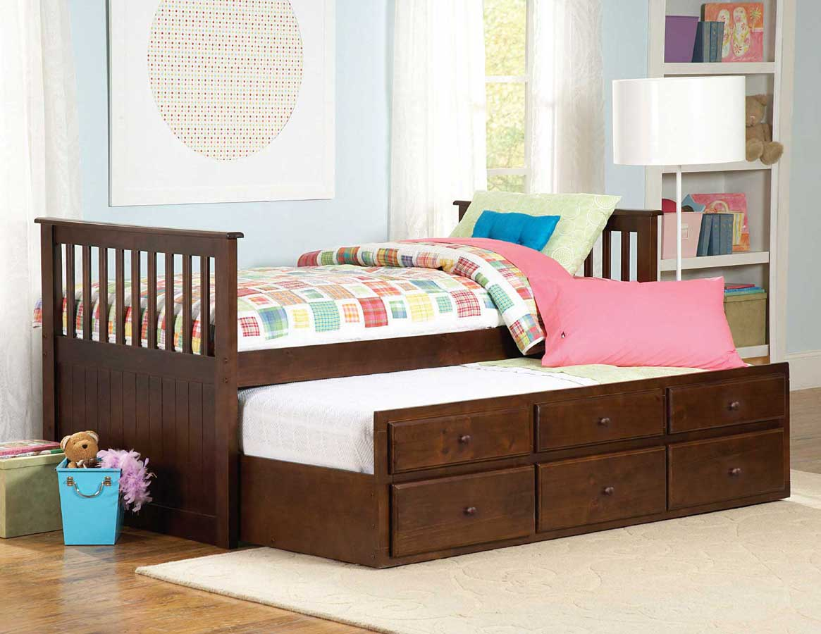 Homelegance Zachary Twin-Twin Trundle Bed
