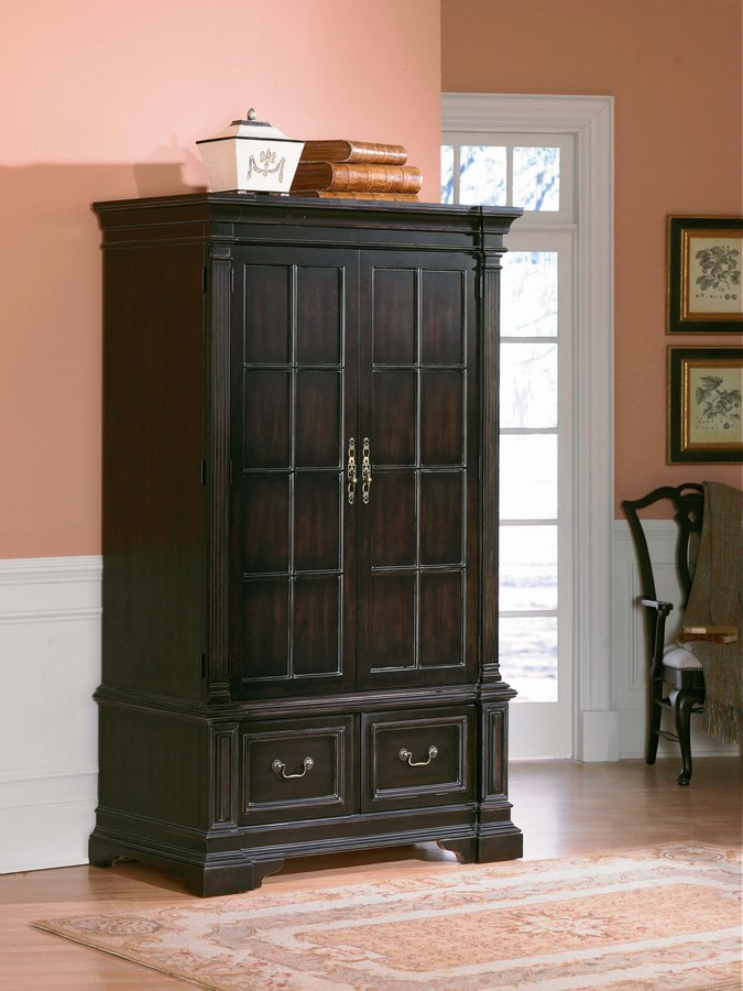 Pulaski Ebony Carlton Manor Armoire