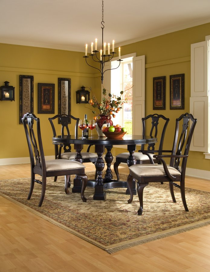 Pulaski Ebony Carlton Manor Round Table