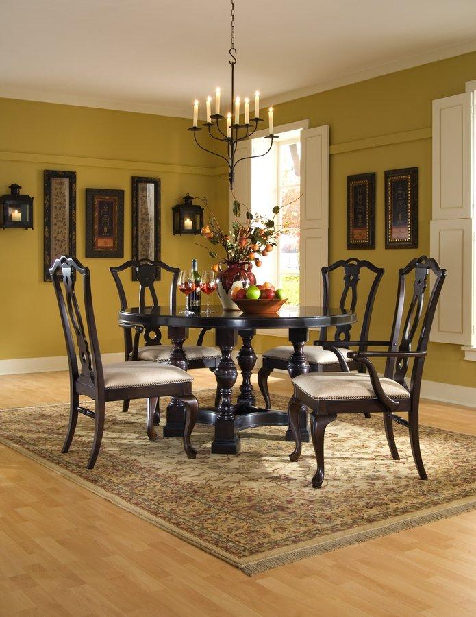 Pulaski Ebony Carlton Manor Round Dining Collection