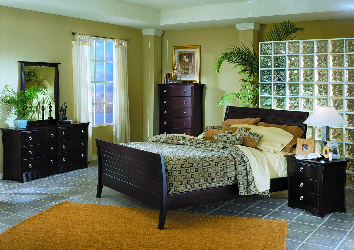 Homelegance Syracuse 3 Drawer with Shaped Front Night Stand