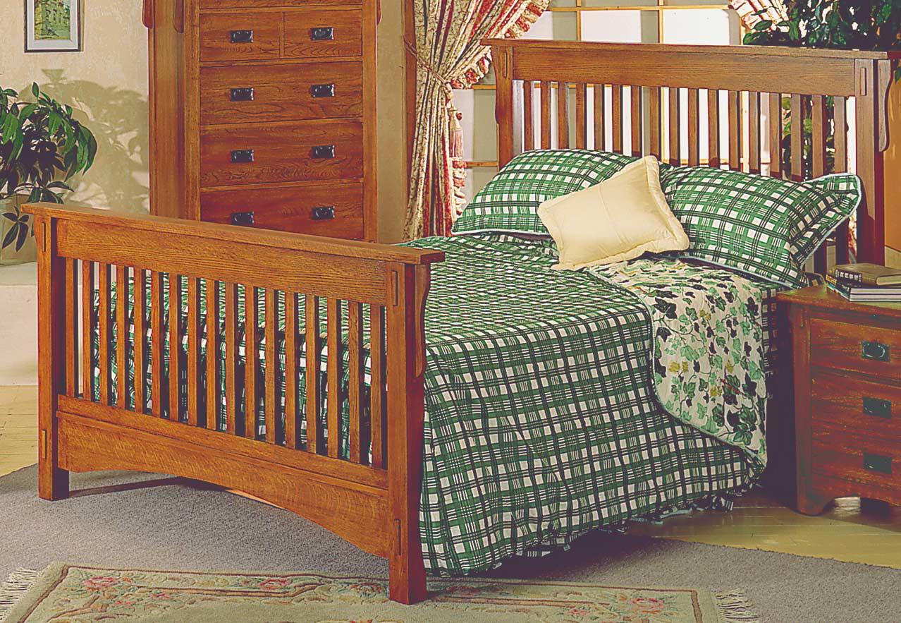 Homelegance Arlington Solid Oak Queen Bed and Rails