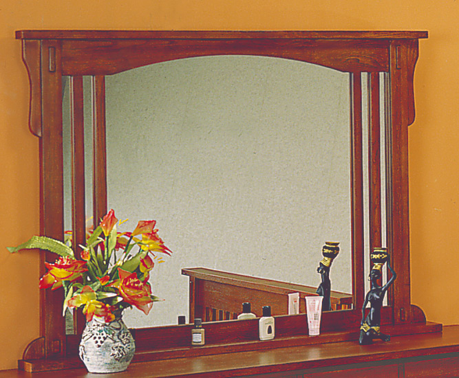 Homelegance Arlington Mirror with Bottom Rail and Top Cap