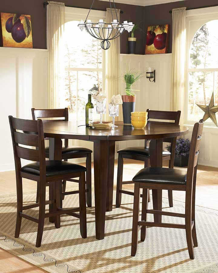 homelegance ameillia counter height round dining collection special