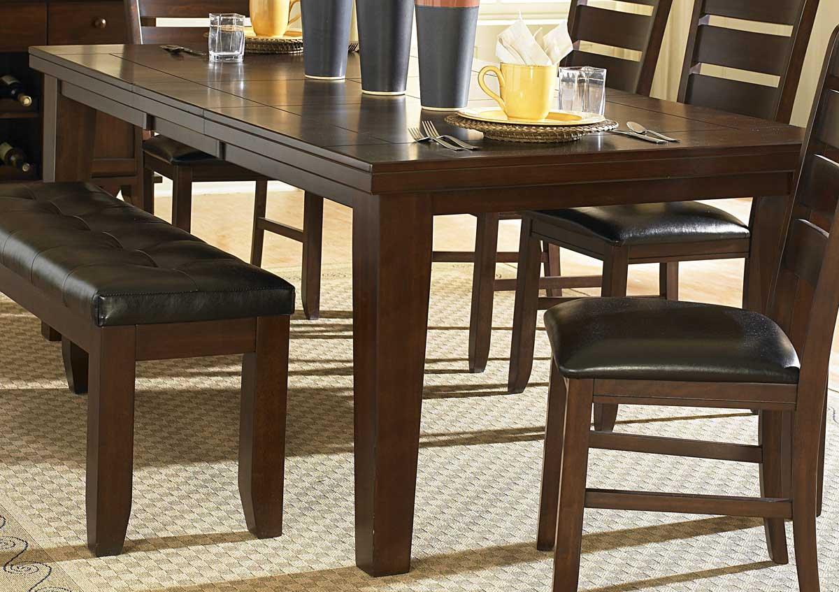 Homelegance Ameillia Dining Table Dark Oak Finish 586 82 At