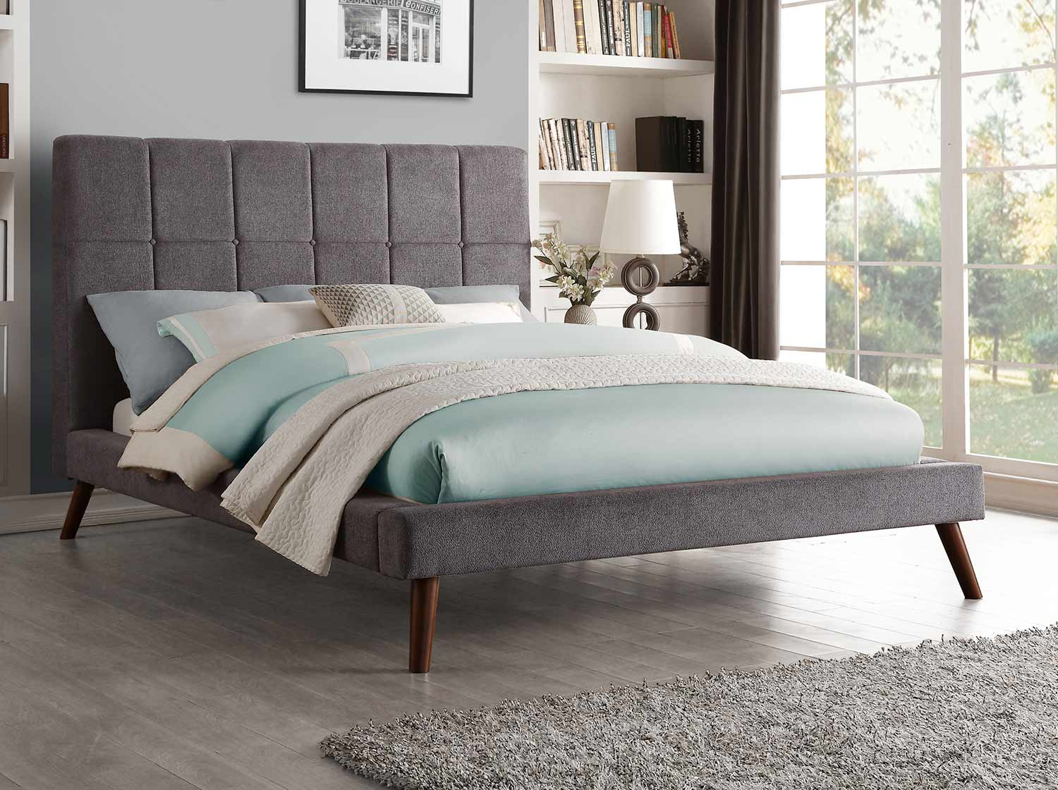 Homelegance Kinsale Upholstered Bed - Gray