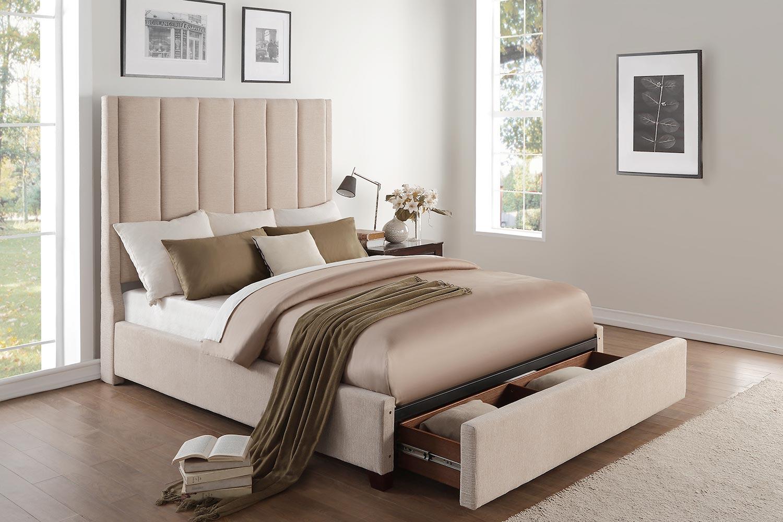 Homelegance Neunan Platform Storage Bed - Beige