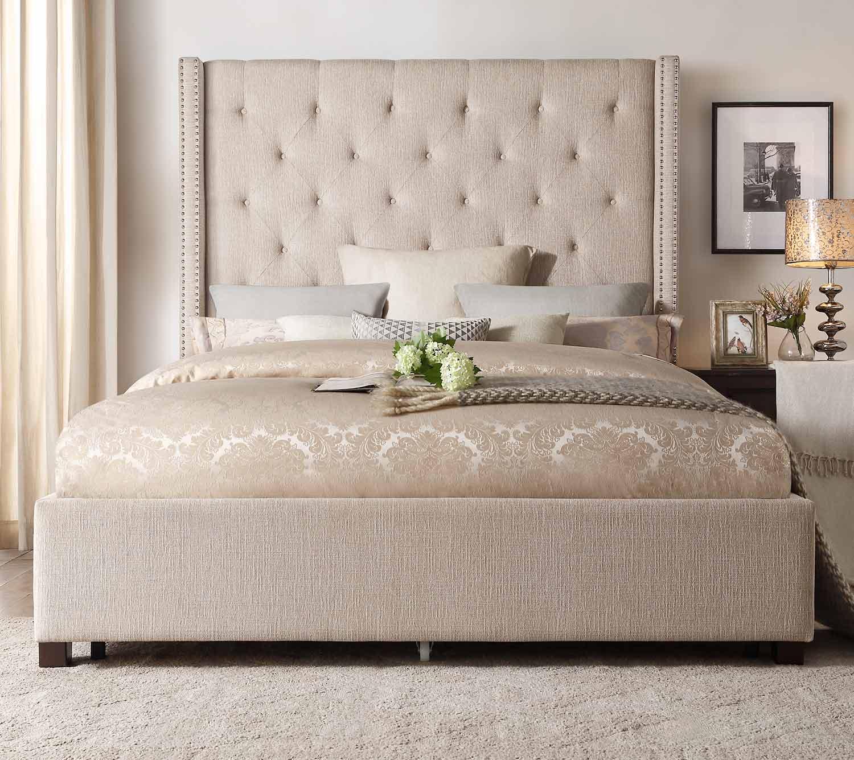 Homelegance Fairborn Platform Bed - Beige