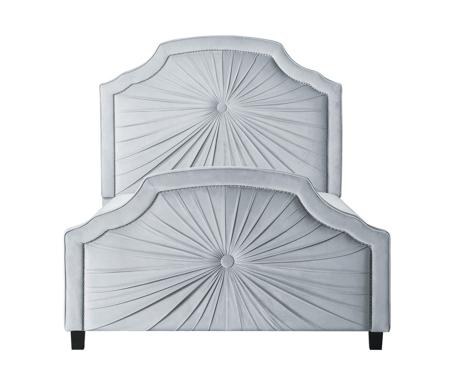 Homelegance Bossa Nova Bed - Light Gray