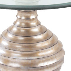 Traditional Accents Silver Leaf Linea Table